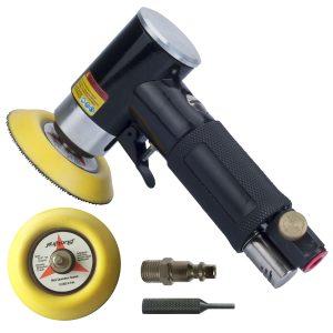 "2"" and 3"" Random Orbital Air Sander, Pneumatic Sander for auto sanding tools, Dual Action Polisher, air angle sander, pneumatic angle sander"
