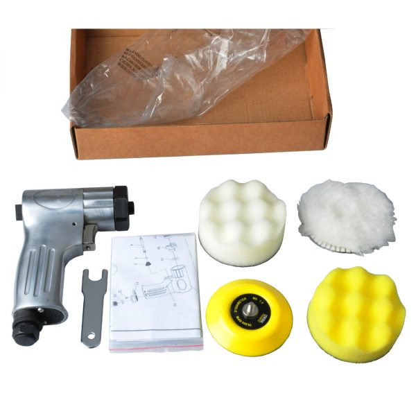 3-Inch Mini Air Polishing Kit 3-Inch Mini Polisher with the sanding pad and form pad and wool buffing